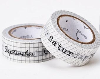 2 Rolls Japanese Washi Tape Masking Tape decoration Tape