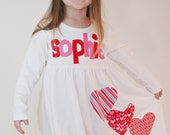 Valentine's Dress for Girls, Valentine Dress, Personalized Valentine Dress, Girl's Valentine Dress