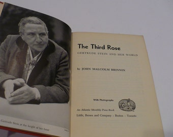 Gertrude Stein, The Third Rose, Gertrude Stein and Her World, By John Malcolm Brinnin, First Edition, 1959,  Books, Biography,