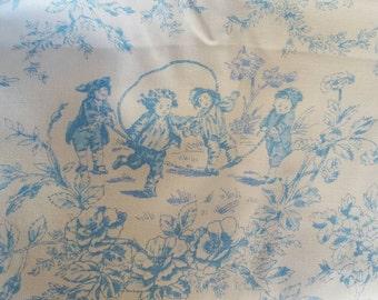 Blue toile print-1.5 yards