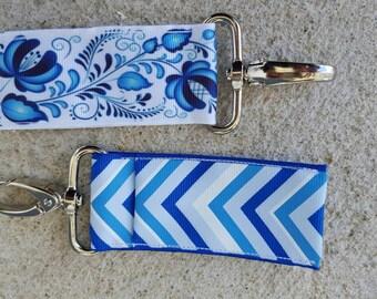 Shades of blue lip balm holders