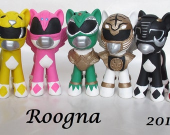 Custom My Little Pony Inspired by MMPR Mighty Morphin Power Rangers