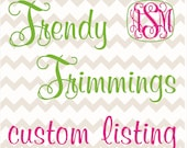 Custom listing for ashleymccarter12