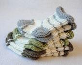 KNITTING PATTERN / Mr. Goo Goo's Baby Socks / Sizes 0-9 mos / Striped Baby Socks