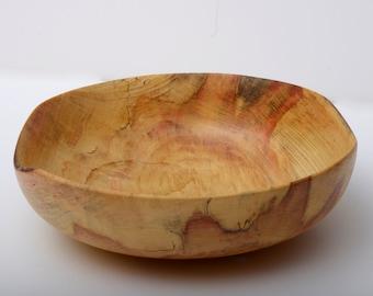 Flame Box Elder Bowl, Turned Wood Bowl, Serving Bowl, Food Safe, Centerpiece