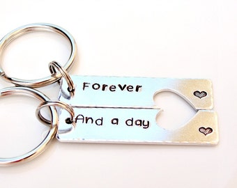Forever and A Day - Couples Key Chains - Personalized Key Chains - Anniversary Gift