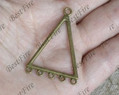 12 pcs of Antique bronze Multi-Circles triangle Connector pendant, charm brone Metal Earring Components ,earring Pendant charm