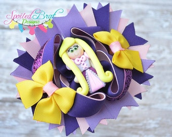 Rapunzel Princess Stacked Hairbow, Ready to Ship, Perfect for Everyday Wear,