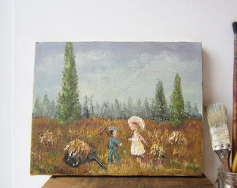 ON SALE Vintage Oil Painting - Impressionism Landscape