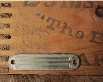 ON SALE Vintage Decorative Metal Property Tag - New Old Stock Blank - For Stamping / Engraving -Qty Available