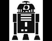 R2D2 Star Wars Cross Stitch Pattern - Star Wars X Stitch Pattern, Embroidery Pattern