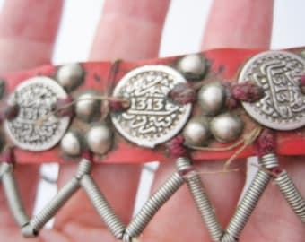 Berber Headdress, Moroccan Head Band, Coin Headdress, Moroccan Jewelry, Tribal Headdress, High Atlas, Berber Jewelry