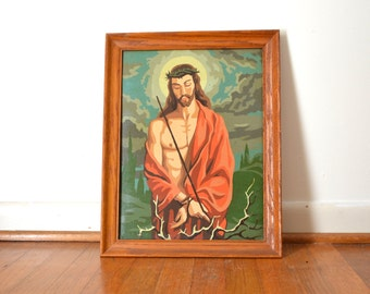 Vintage Jesus Paint by Number Painting