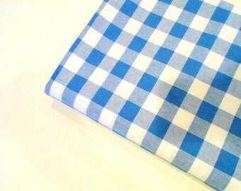 Navy Blue & White Checked Fabric, Mystery Fabric, Sewing Material