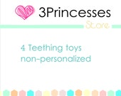4 teether toy pack baby gift