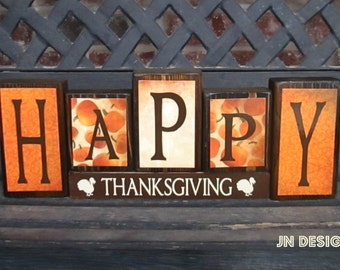 HAPPY Thanksgiving blocks(muted)