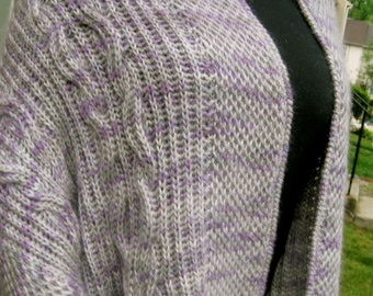 Knit Shawl Pattern:  Warm Brioche Pocket Shawl Knitting Pattern