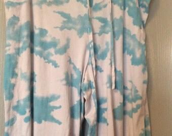 Victoria's Secret cloud print batik tie-dye design large/XL cut off pants/drawstring/2 pairs available