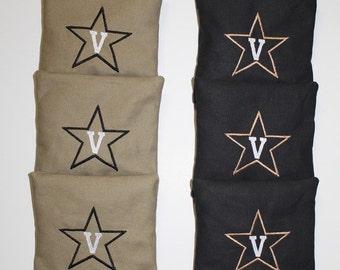 VANDERBILT COMMODORES Cornhole Bags ACA Embroidered Bean Corn Toss Regulation New
