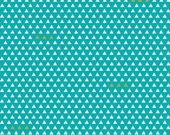 SALE - Four Corners Triangle Teal C4874 - By Simple Simon and Company - Riley Blake Fabric - By the Yard
