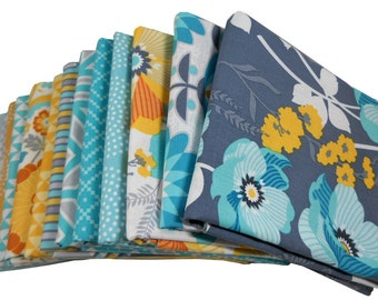 HALF YARD Bundle - ATRIUM (Mint Palette) - Joel Dewberry for Free Spirit Fabrics - 13 pcs