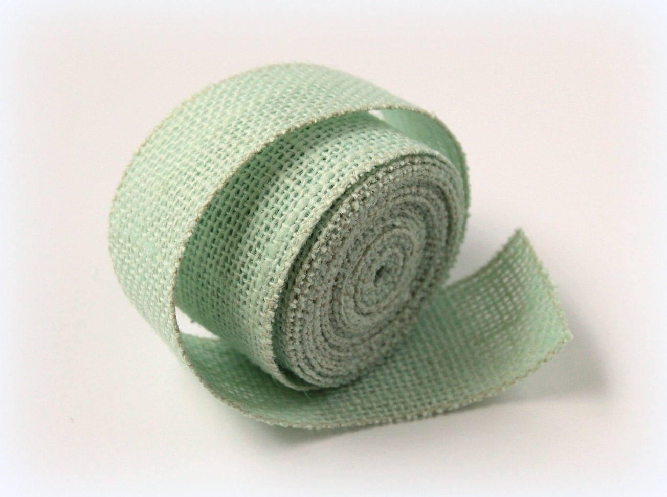 Burlap ribbon mint green by thebirchtreeshop on etsy for Green burlap ribbon