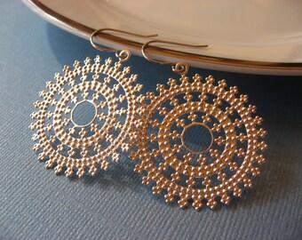 Silver Dangle Earrings, Filagree Earrings