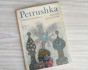 vintage hard cover Petrushka children's picture book / jan kudlacek