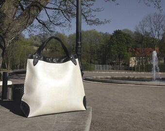 Retro Chic - - BLACK and WHITE handbag