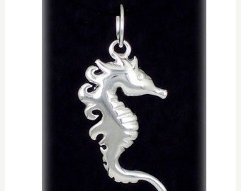 SALE Sterling Silver Seahorse Pendant Necklace