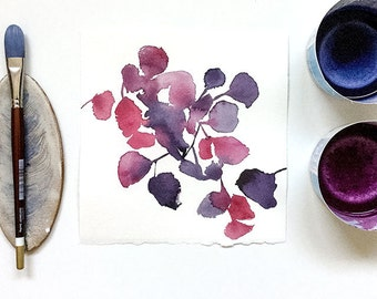 Original watercolor | Purple Shade