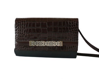 Authentic Brighton Leather Crossbody Wallet on a String Organizer Clutch Shoulder Bag
