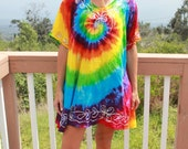 Tie dye Free size Rayon dress