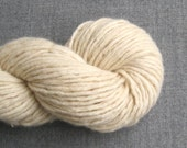 Super Bulky Weight Wool Angora Blend Recycled Yarn, Vanilla, 120 yards, Lot 040316