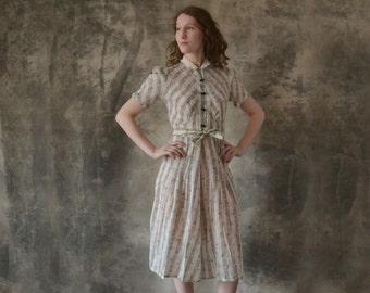 1940s Black Bow Dress size S