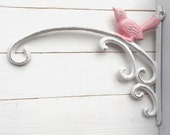 Cast Iron Bird Plant Hangers-French Garden Decor- Plant Hook-Wall Bracket Hook With Bird-Hangling Plant Holder -Shabby Bird- Wedding Decor