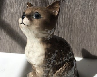 Beswick England Tabby Tiger Cat Figurine Collectible