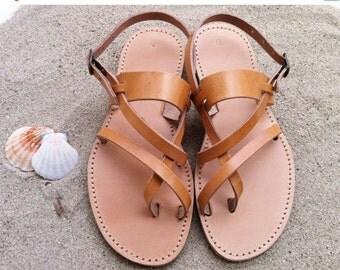 SUMMER SALES leather gladiator sandals ,leather sandals, handmade Greek sandals, 100% genuine leather