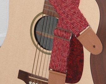 Red Guitar Strap, Alpaca blend