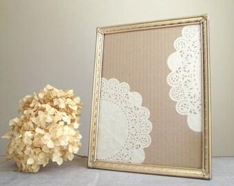 Vintage Metal Frame / Ornate Gold Tone 8 x 10 Frame / Hollywood Regency / Romantic Decor / Vintage Bridal Wedding Decor