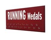 Gifts for Runners - Marathon, Half Marathon, 10K, 5K, Running Medal Holder - Running Subway Sign