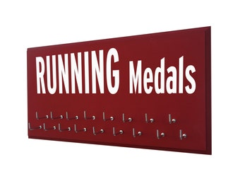 Gifts for Runners - Marathon, Half Marathon, 10K, 5K, Running Medal Holder - Running Subway Sign