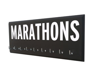 Marathon medals holder: running marathons, marathon gifts, marathon runners, marathons awards, marathon medal display, marathon medal rack