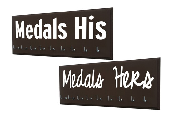 Wedding Gifts For Runners : Just married, running coupleWedding gifts for runnersMedals his ...