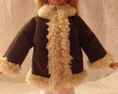 Handmade Sherpa & brown Suede jacket for Fashion Dolls - ed815