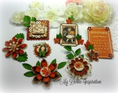 G45 Children's Hour November / Thanksgiving Handmade Paper Embellishments for Scrapbooking Layouts Cards Mini Albums Tags Paper Crafts