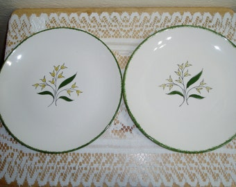 Two Blue Ridge Southern Potteries Dinner Plates