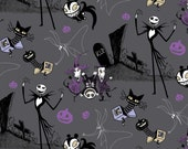 Disney Nightmare Before Christmas Jack in the Boxes Cotton Fabric, 1 yard