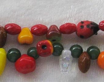 Vintage Glass Fruit Bead Bracelet