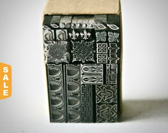 August is Letterpress Month - 20% off Vintage Printers Type Dingbats or Ornaments for Printing Stamping and Decor